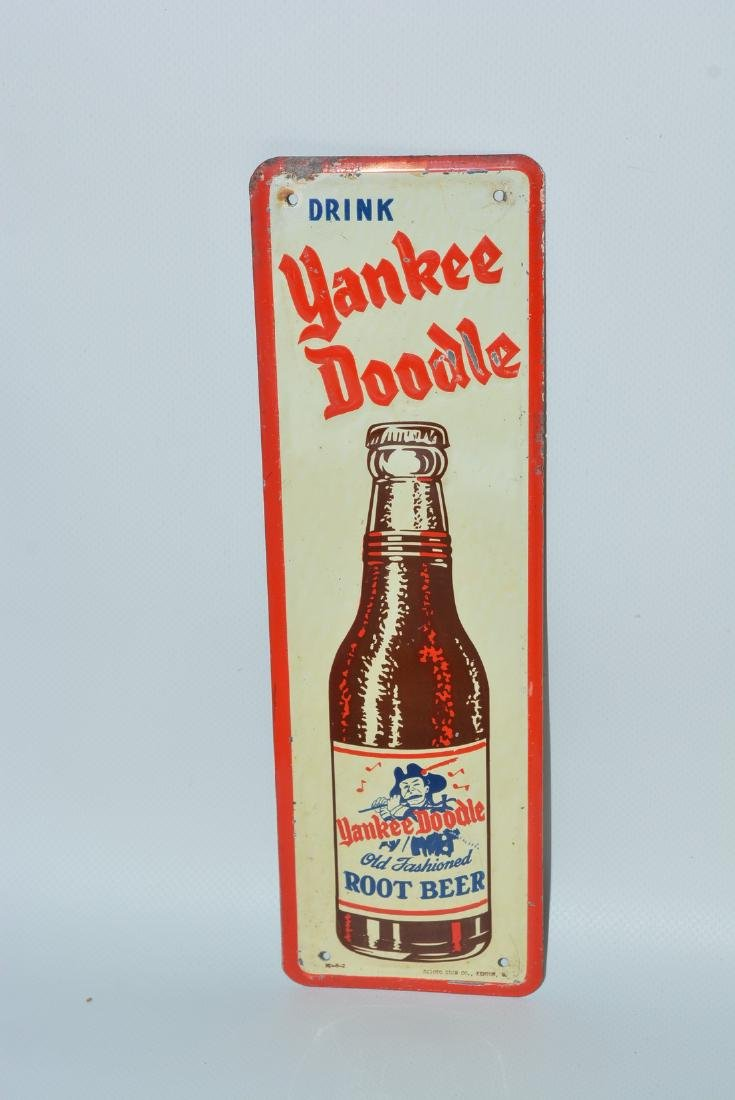 Drink Yankee Doodle Root Beer painted sign