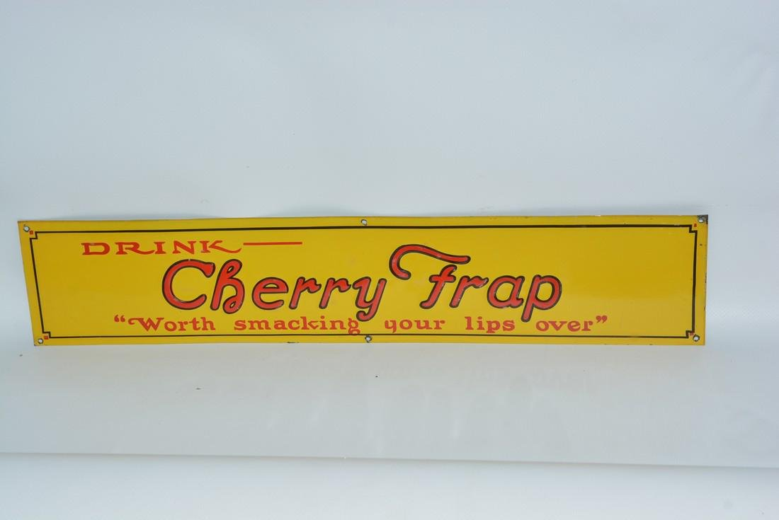 """Drink Cherry Frap """"Worth smashing your lips over"""""""