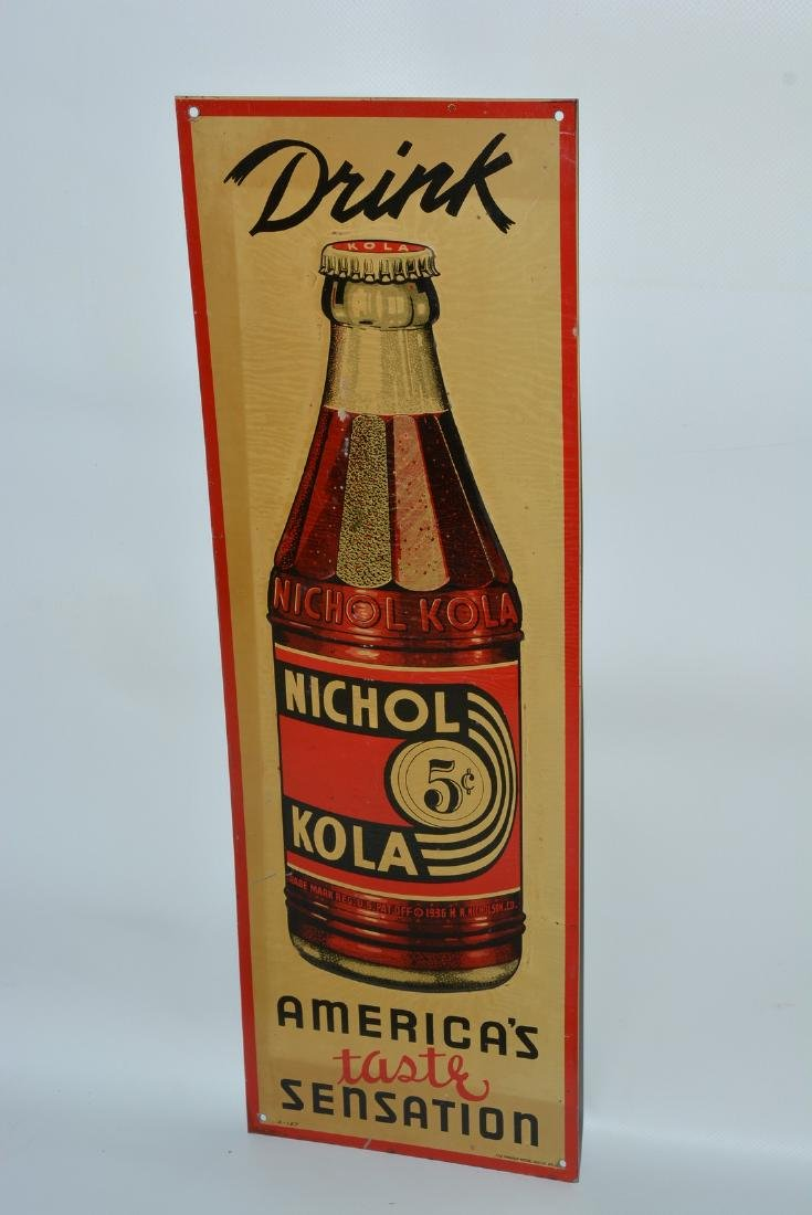 """Drink Nichol Kola """"America's taste sensation"""" painted"""