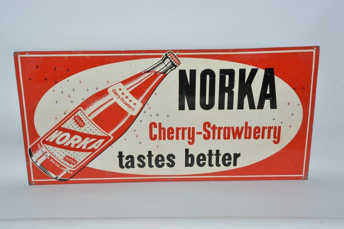 Norka Cherry-Strawberry taste better painted sign