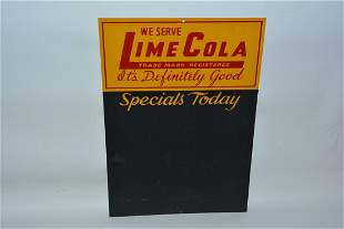 We Serve Lime Cola Chalk Board painted sign