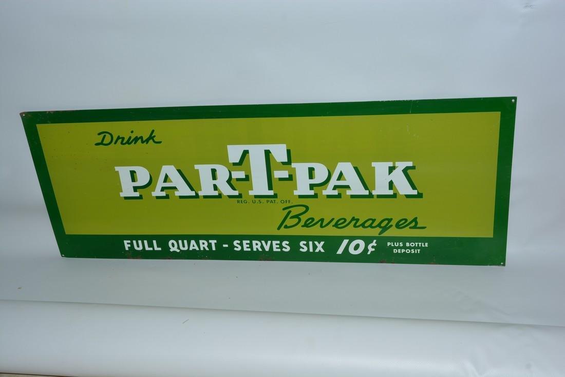 Drink Par-T-Pak Beverages painted sign