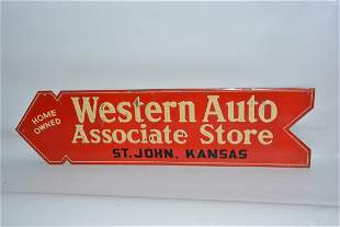 Western Auto Associate Store painted sign