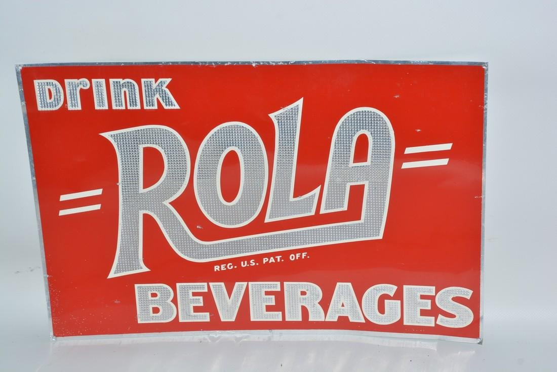 Drink Rola Beverages painted sign,