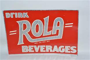 Drink Rola Beverages painted sign,