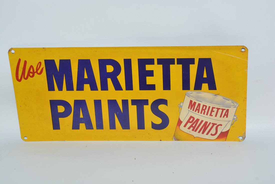 Use Marietta Paints painted sign