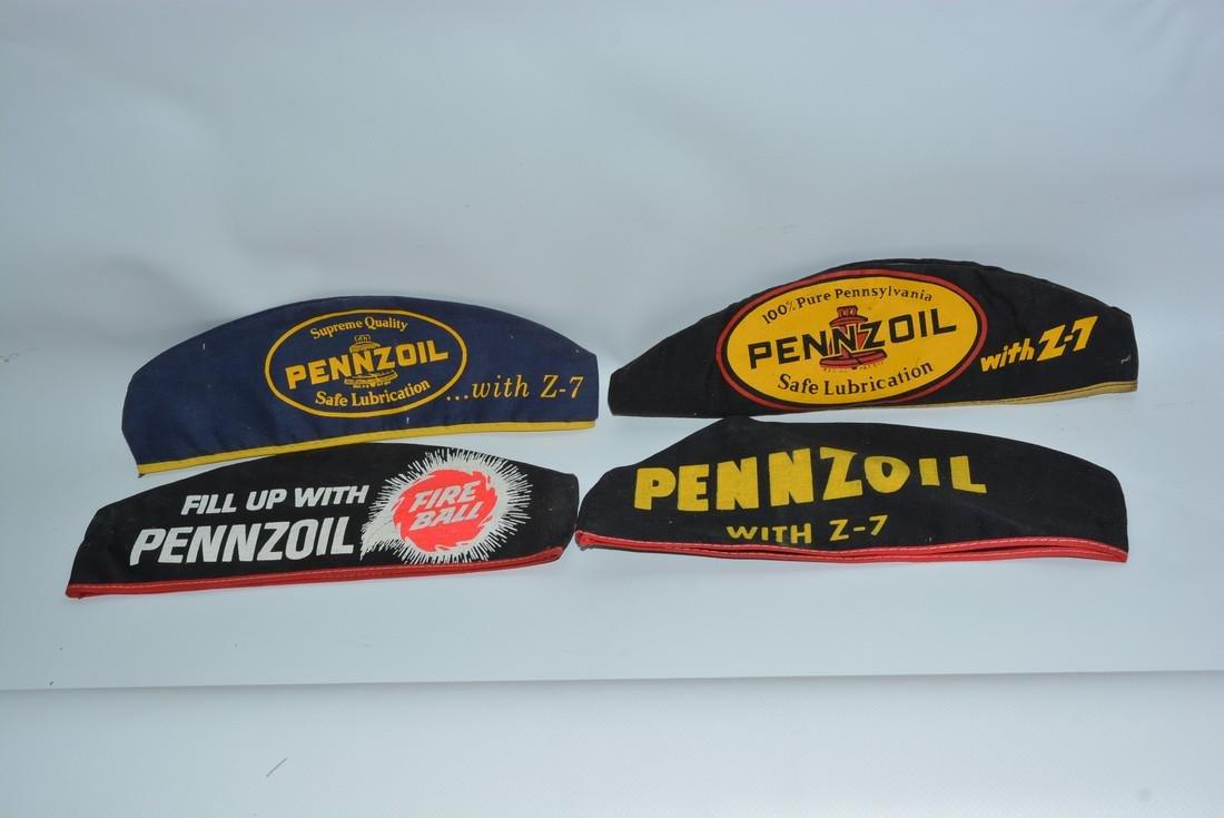 4-Pennzoil Motor Oil Service Station Attendants Hats