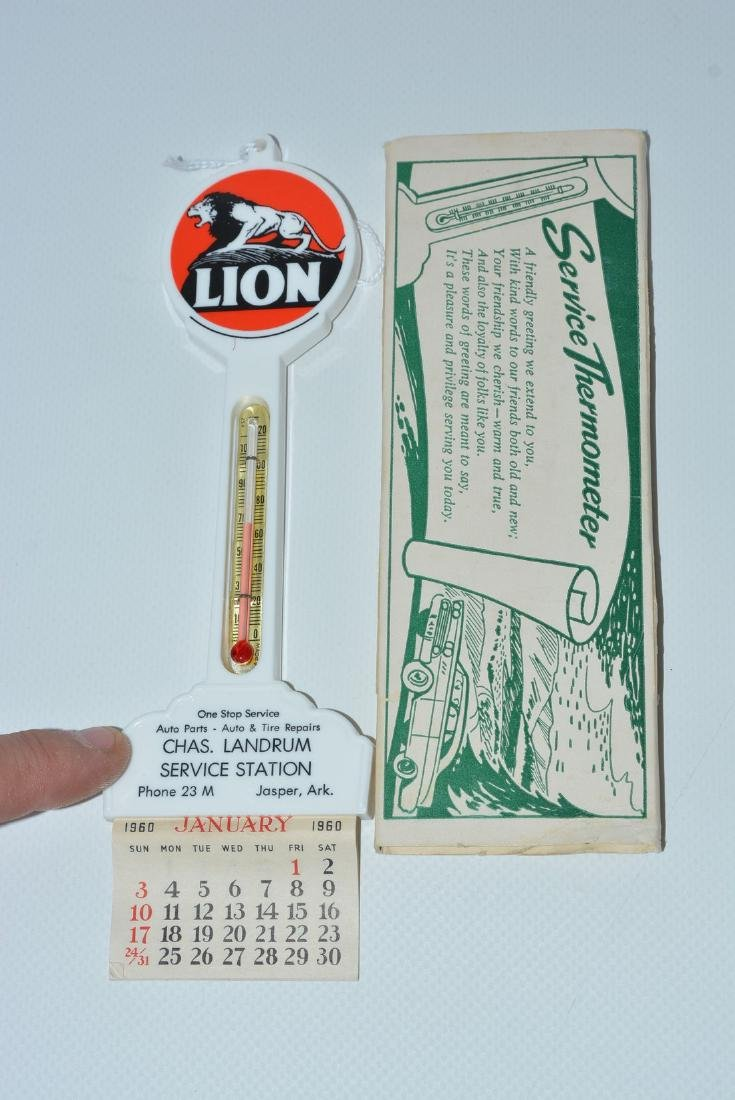 Lion (gasoline) w/logo Plastic Pole Thermometer