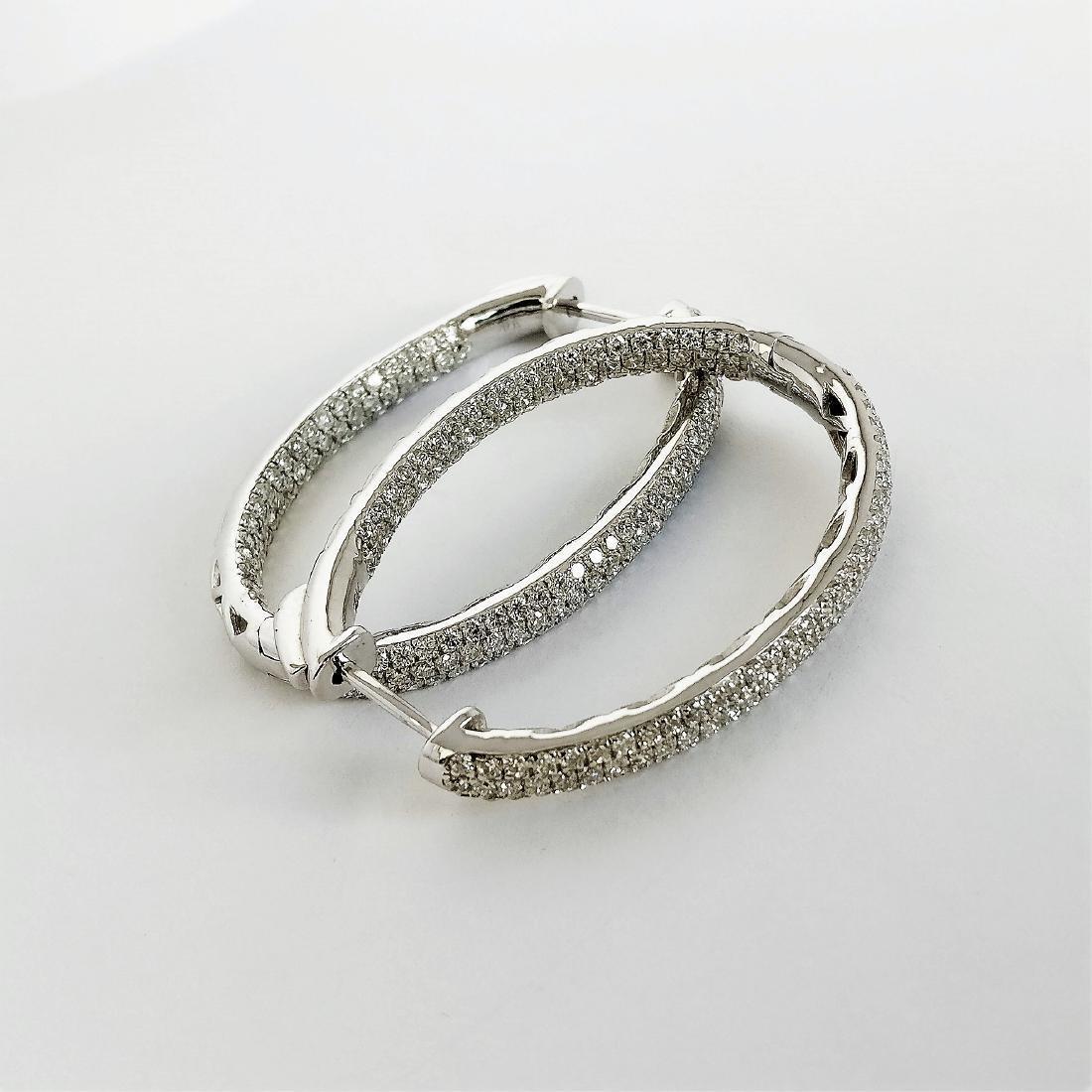 Ladies Earrings with Diamonds total 5.84 ct