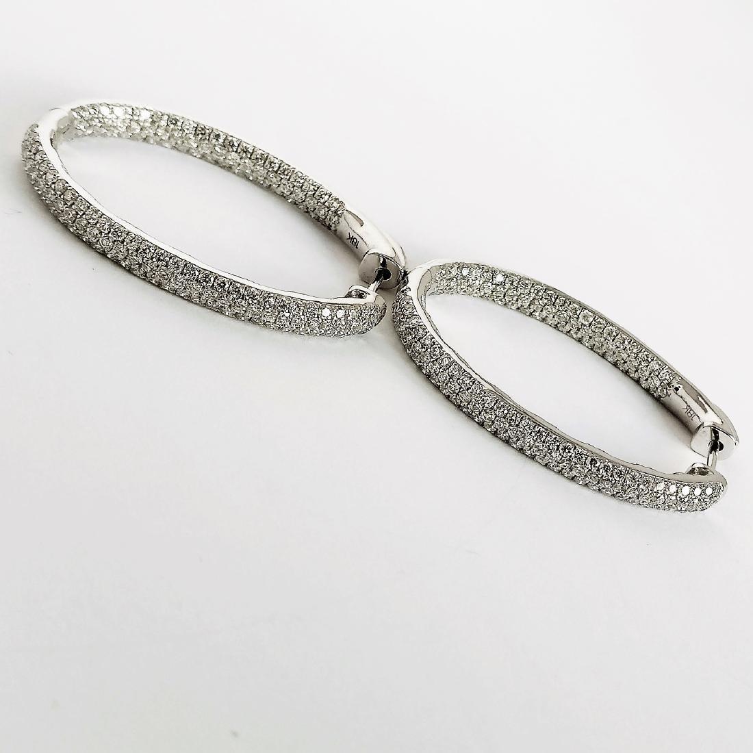 Ladies Earrings with Diamonds total 5.84 ct - 2
