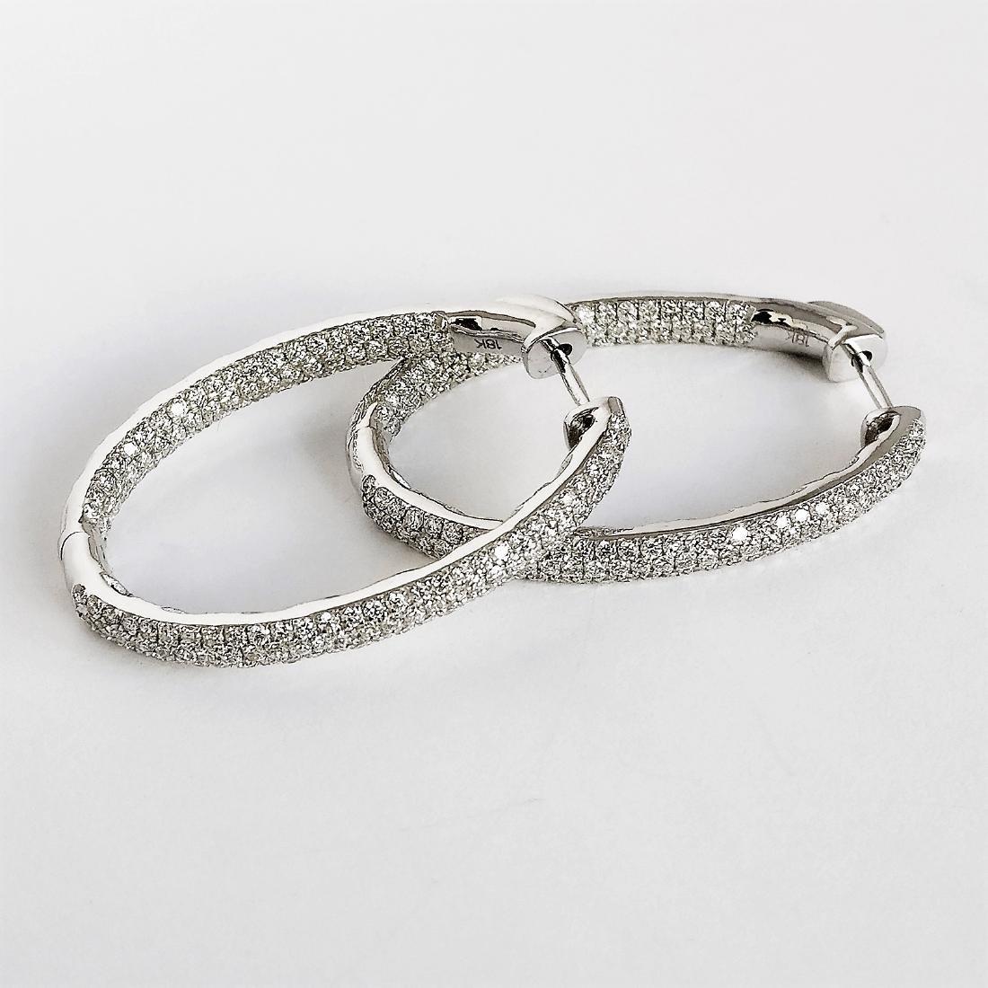 Ladies Earrings with Diamonds total 5.84 ct - 3