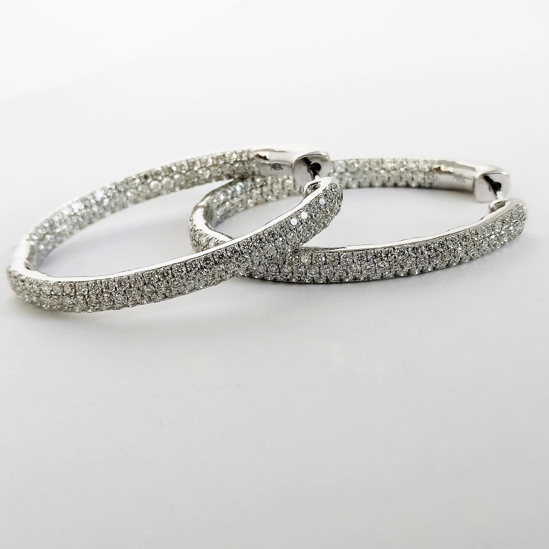 Ladies Earrings with Diamonds total 5.84 ct - 4