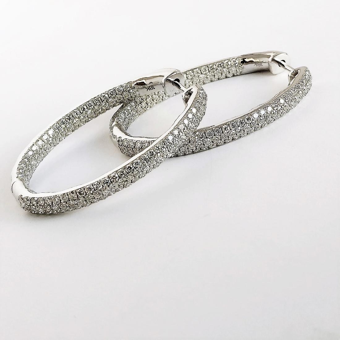 Ladies Earrings with Diamonds total 5.84 ct - 5