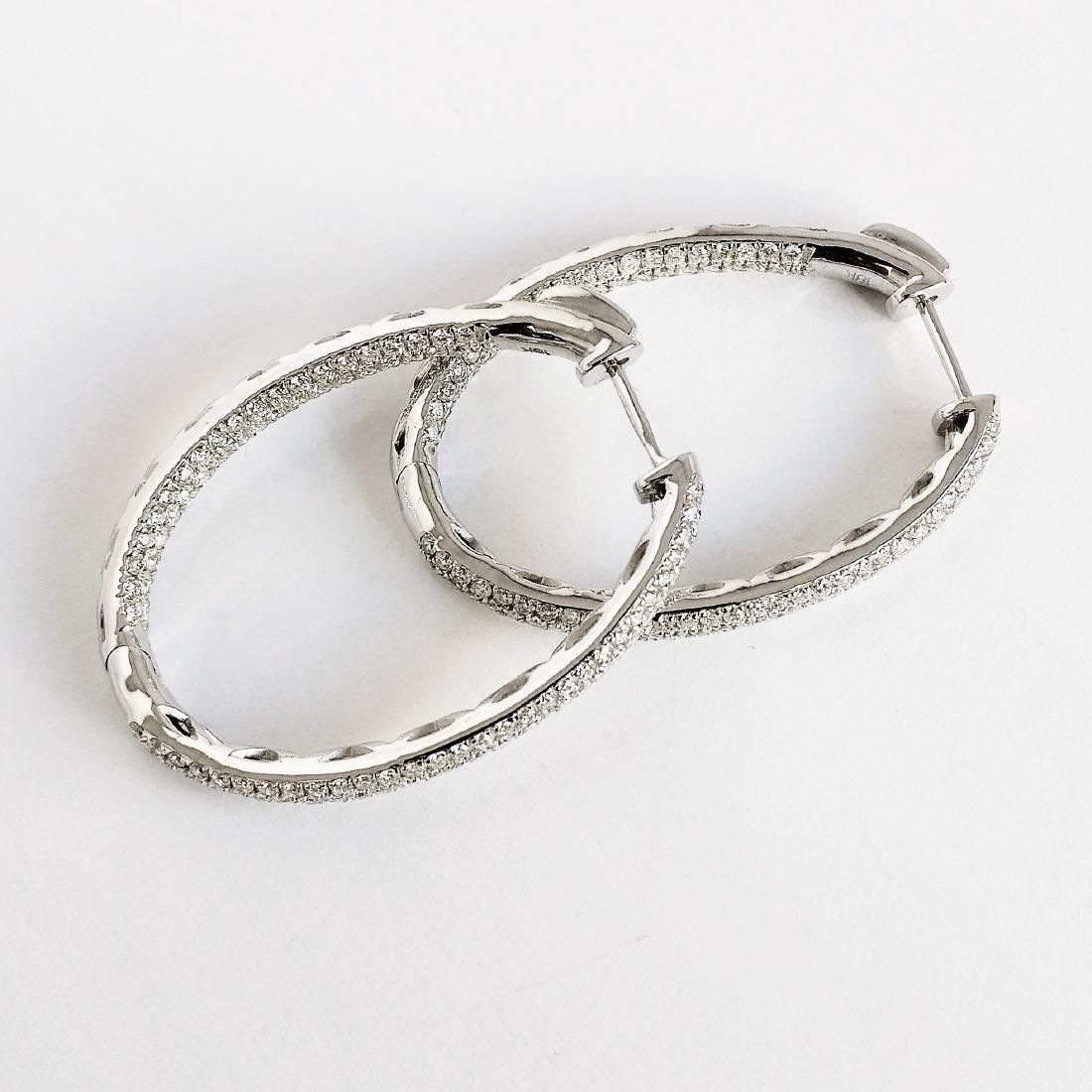 Ladies Earrings with Diamonds total 5.84 ct - 6