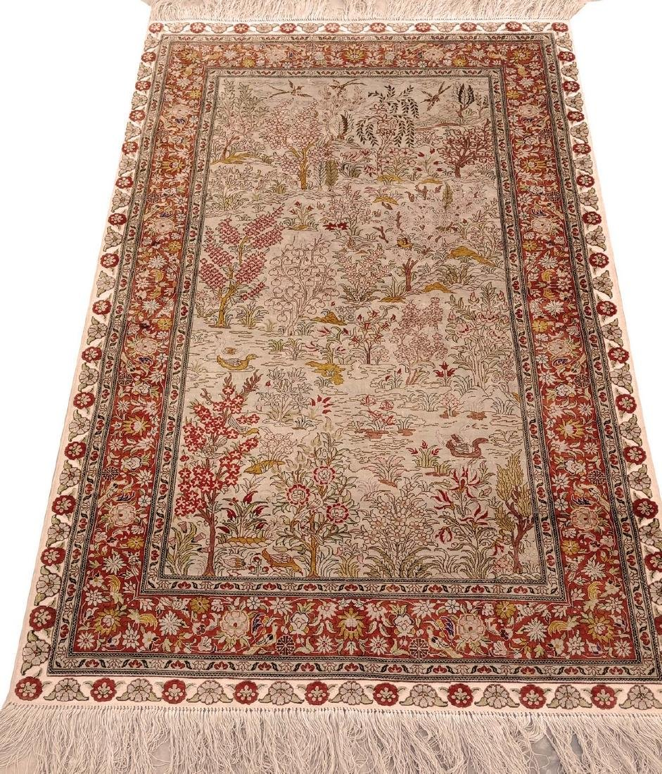 Antique Hereke Turkish Silk Carpet