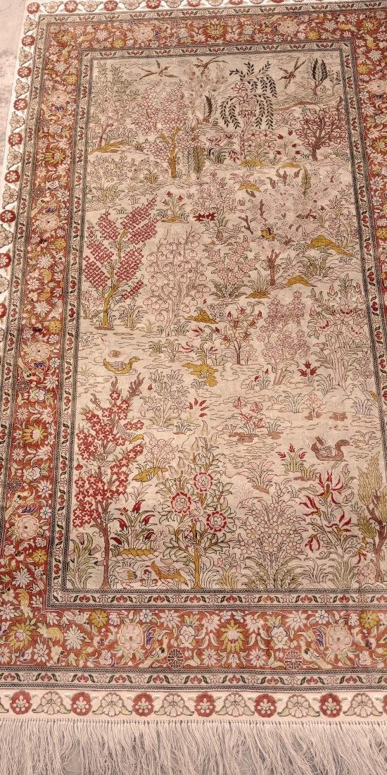 Antique Hereke Turkish Silk Carpet - 4