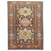 Colorful antique Persian Heriz Karadja rug with an