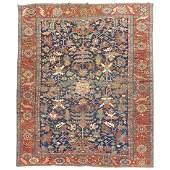 Colorful antique Persian Heriz Karadja rug with a