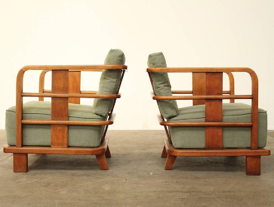 Pair of Lounge Easy Chairs, Attributed to Jean Royere, - 2
