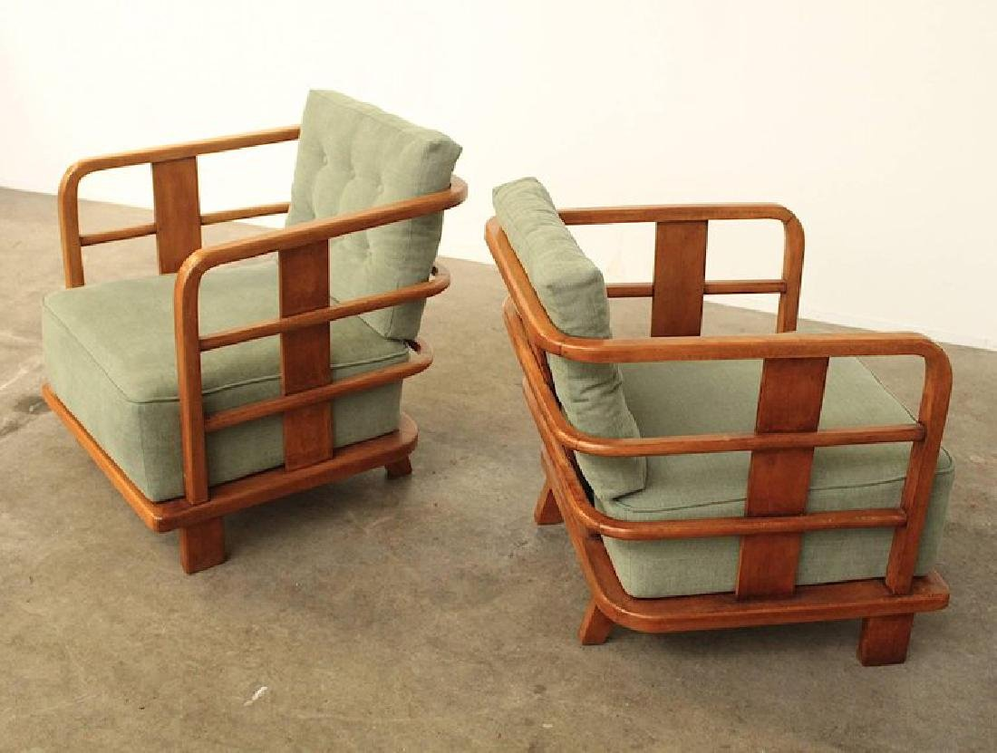 Pair of Lounge Easy Chairs, Attributed to Jean Royere, - 3