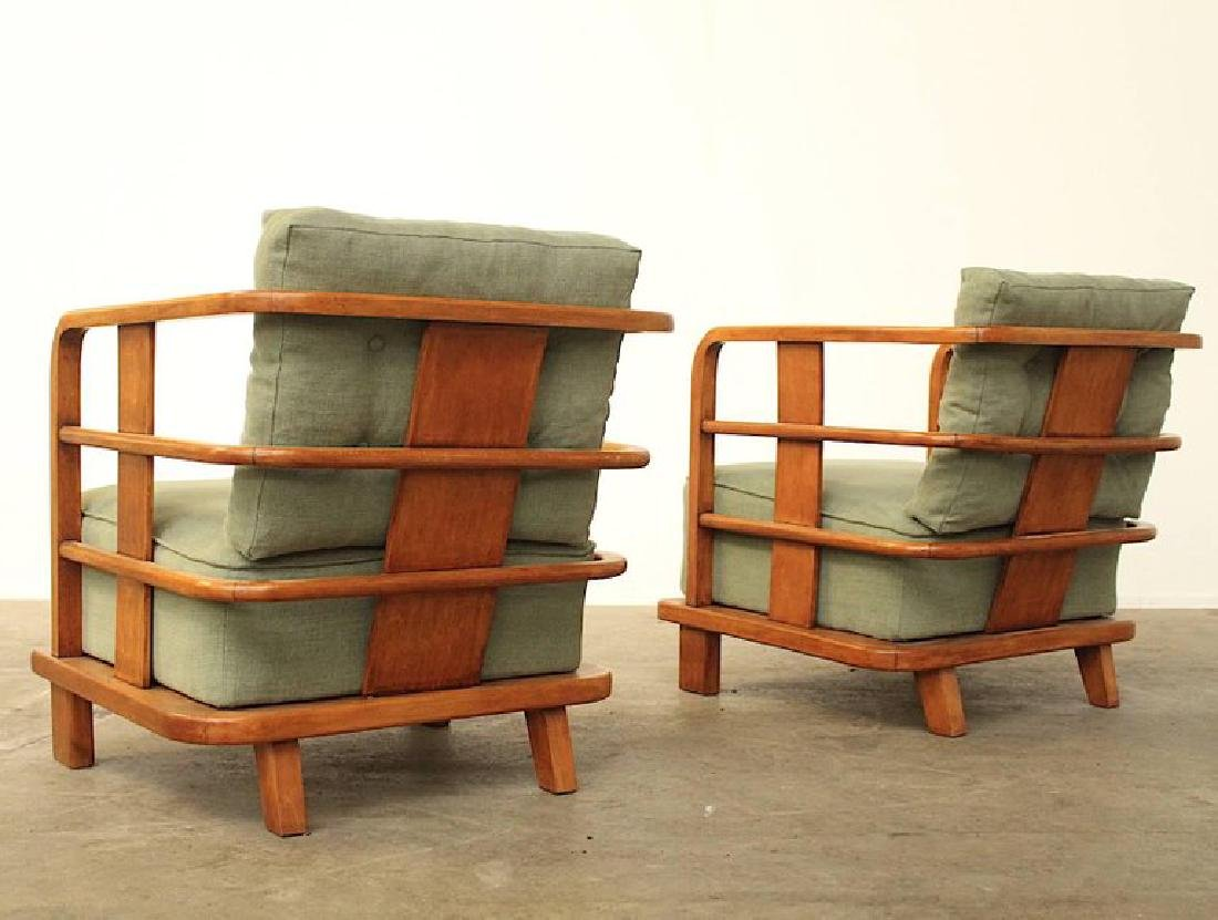 Pair of Lounge Easy Chairs, Attributed to Jean Royere, - 4