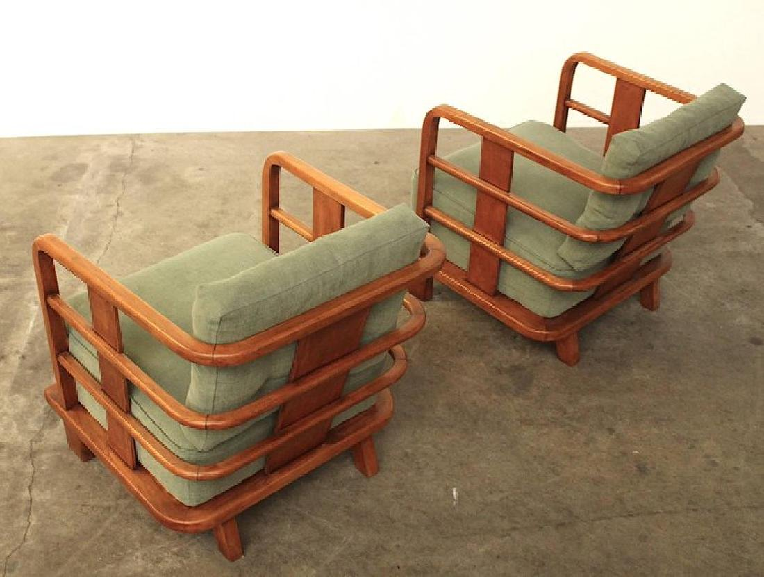 Pair of Lounge Easy Chairs, Attributed to Jean Royere, - 5