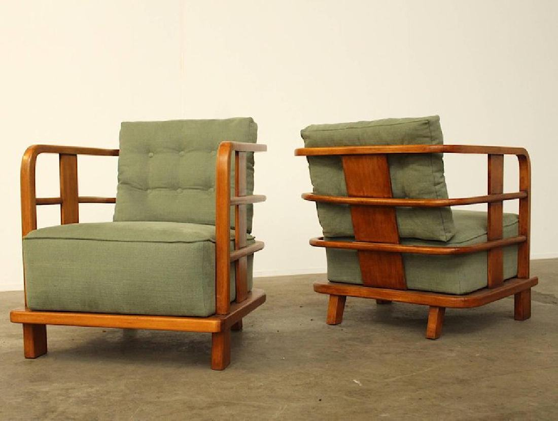 Pair of Lounge Easy Chairs, Attributed to Jean Royere, - 6