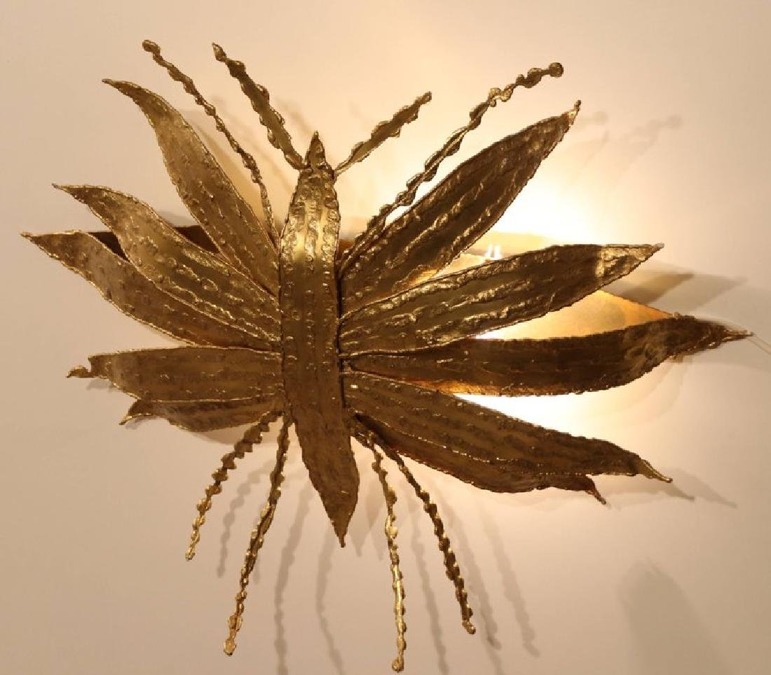 Large Paul Moerenhout Gilt Bronze Dragon Fly like - 3