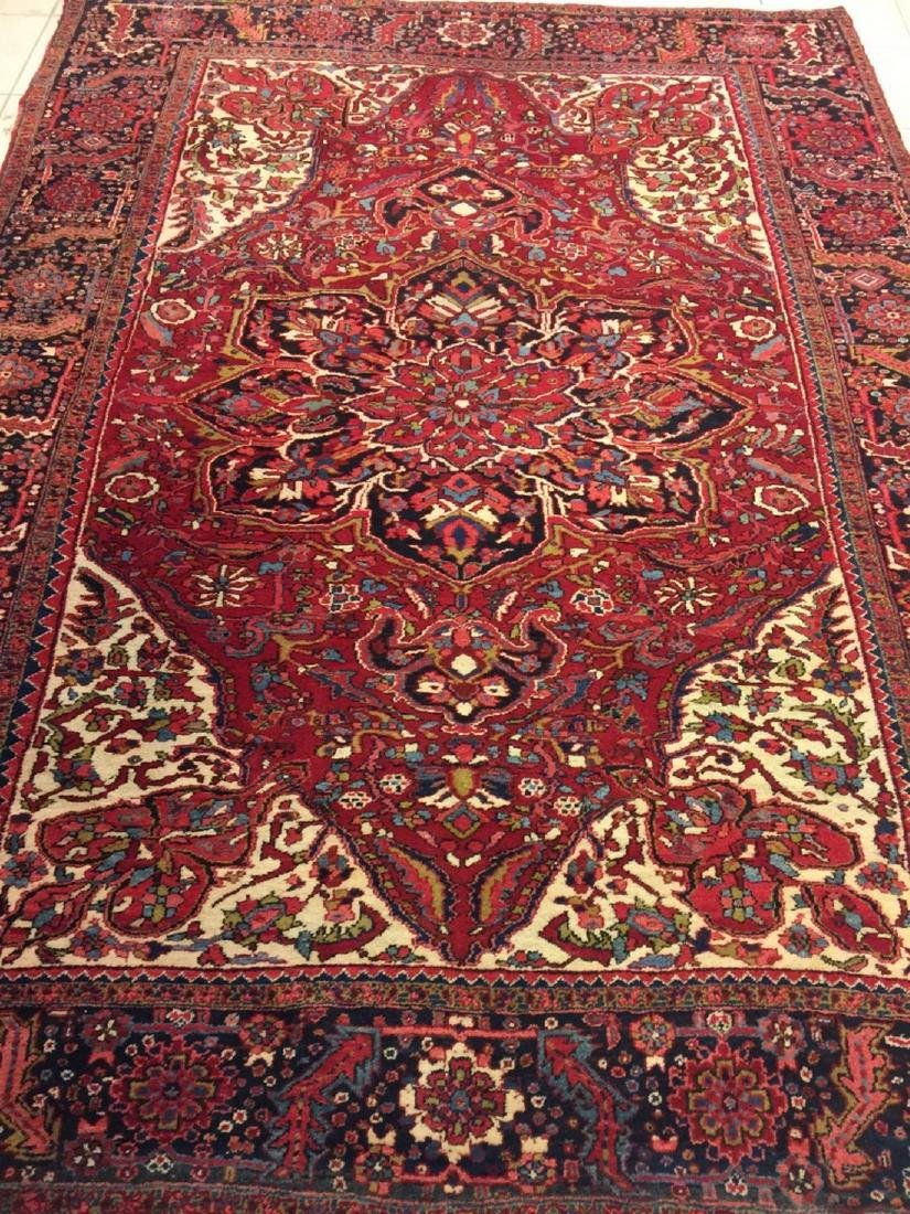 Semi Antique Hand Woven Persian Rug Heriz 11.4x8.2