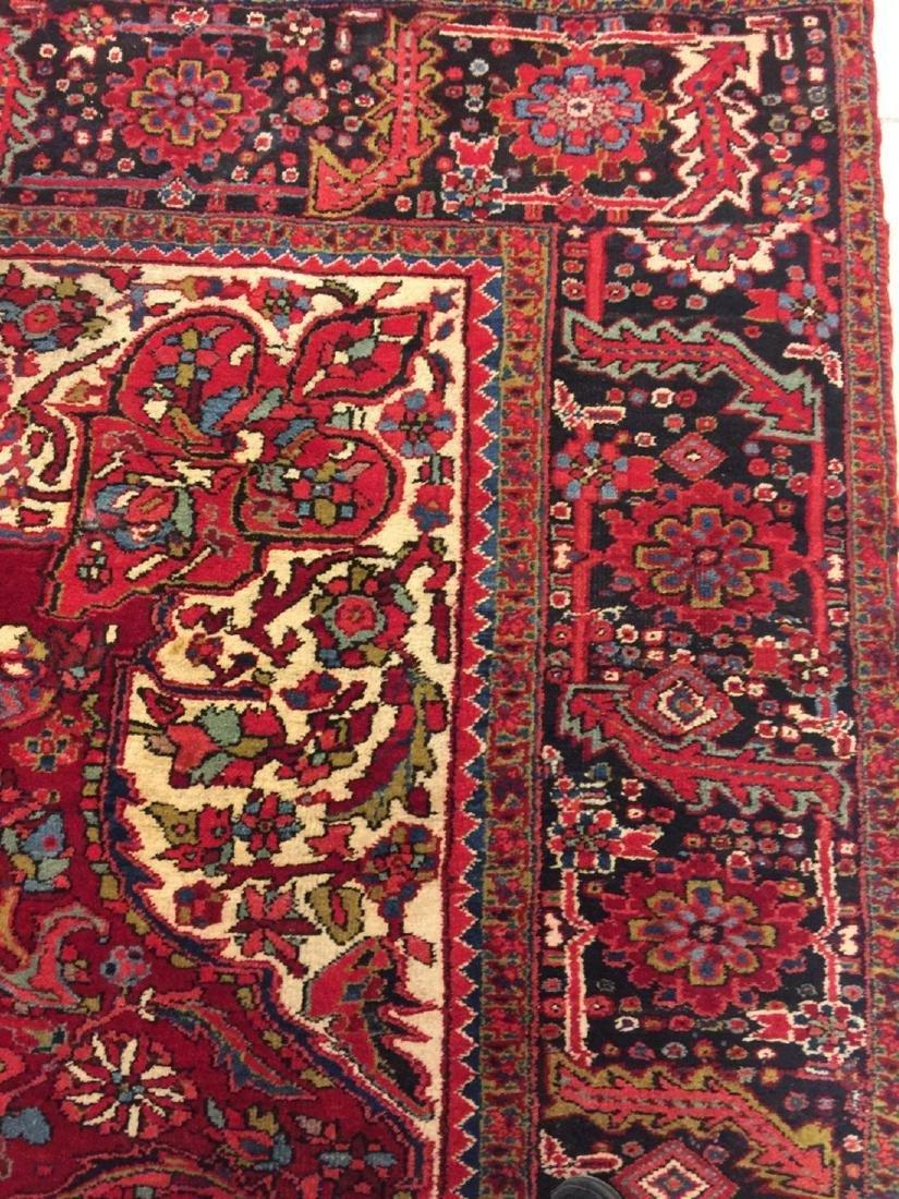 Semi Antique Hand Woven Persian Rug Heriz 11.4x8.2 - 2
