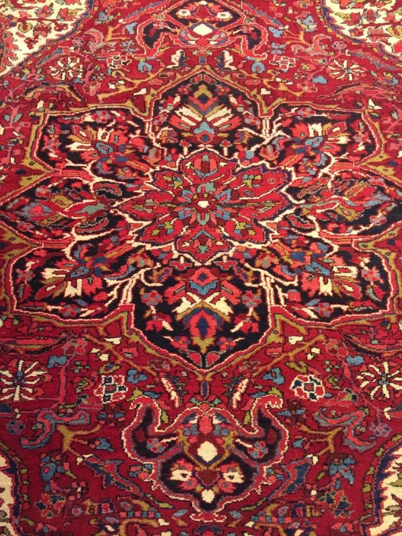 Semi Antique Hand Woven Persian Rug Heriz 11.4x8.2 - 3
