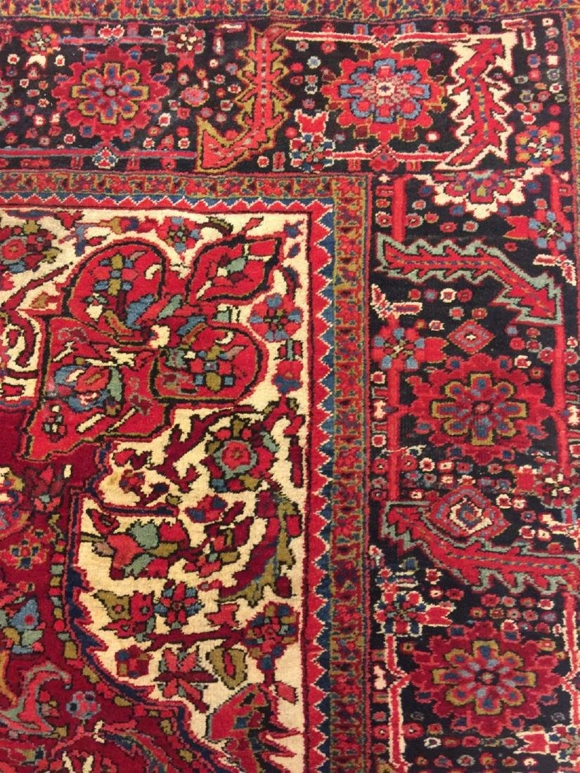 Semi Antique Hand Woven Persian Rug Heriz 11.4x8.2 - 4