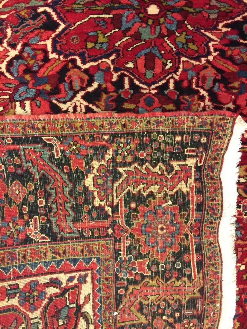Semi Antique Hand Woven Persian Rug Heriz 11.4x8.2 - 5