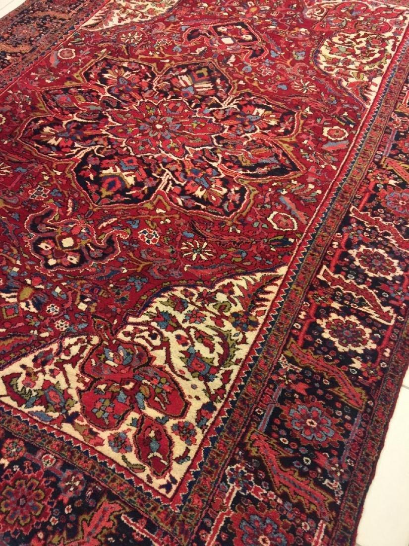 Semi Antique Hand Woven Persian Rug Heriz 11.4x8.2 - 6