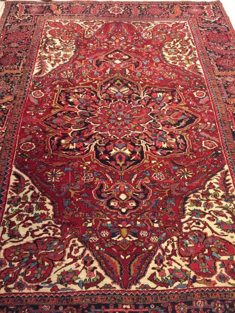 Semi Antique Hand Woven Persian Rug Heriz 11.4x8.2 - 7