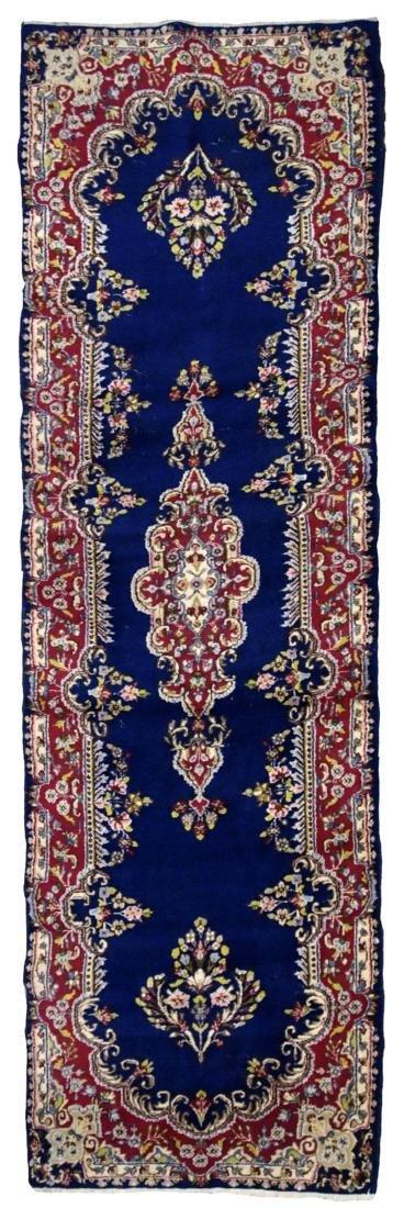 Handmade antique Persian Kerman runner 2.5' x 8.1' (