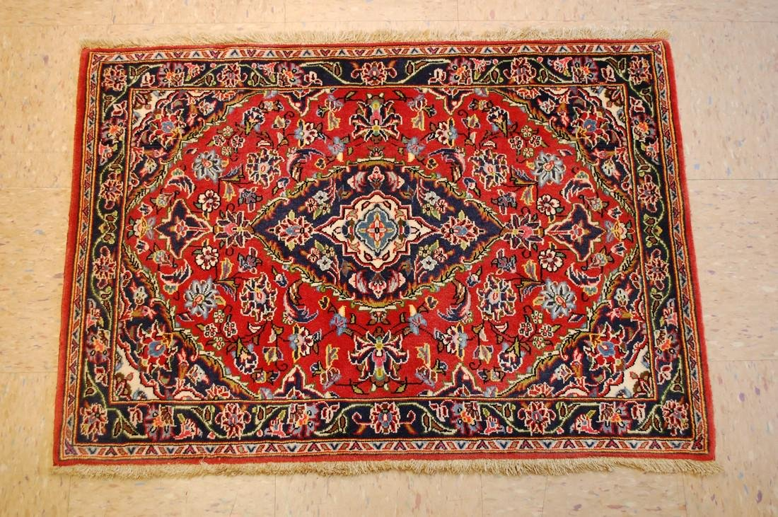 Circa 1930's ANTIQUE KORK WOOL_HIGH KPSI PRSIAN KESHAN