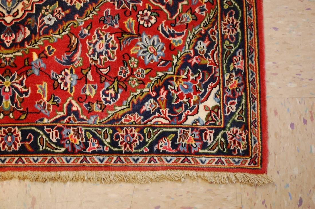 Circa 1930's ANTIQUE KORK WOOL_HIGH KPSI PRSIAN KESHAN - 3