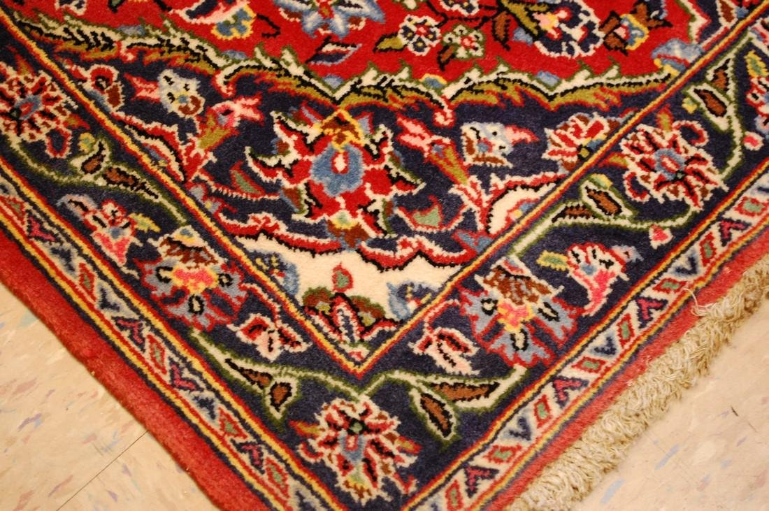 Circa 1930's ANTIQUE KORK WOOL_HIGH KPSI PRSIAN KESHAN - 6