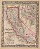 County Map of California, Mitchell 1860