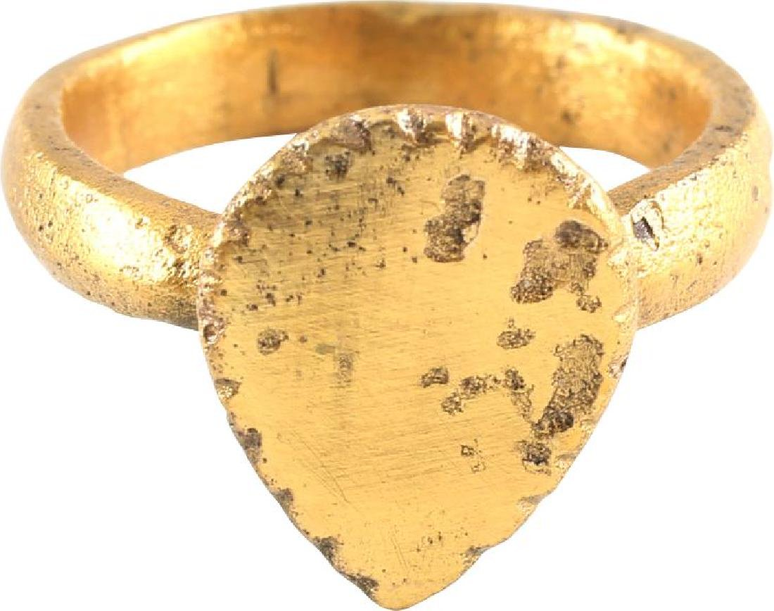 VIKING HEART RING C.900-1050 A.D., SIZE 10 - 2