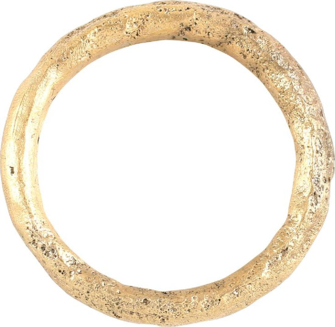 VIKING TWISTED RING C.866-1067 A.D. SIZE 5 1/2. - 4