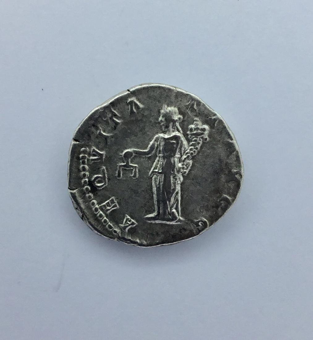 Roman, Trajan. Silver denarius of 3.2 grams. 100 AD. - 2