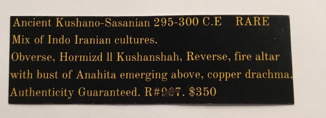 Ancient kushano- Sassanian. 295-300 AD. Hormizd ll - 3