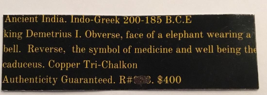 Ancient India, indo Greek. 200-185 BC. Demetrius l - 3