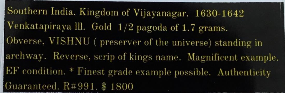 Southern India, gold half pagoda of 1.7 grams. - 4