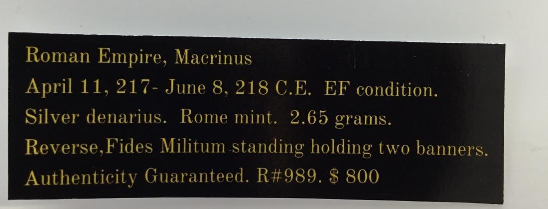 Macrinus. 217-218 AD - 3