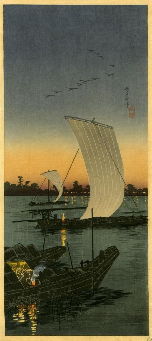 Shotei: Sekiyado 1932 Woodblock