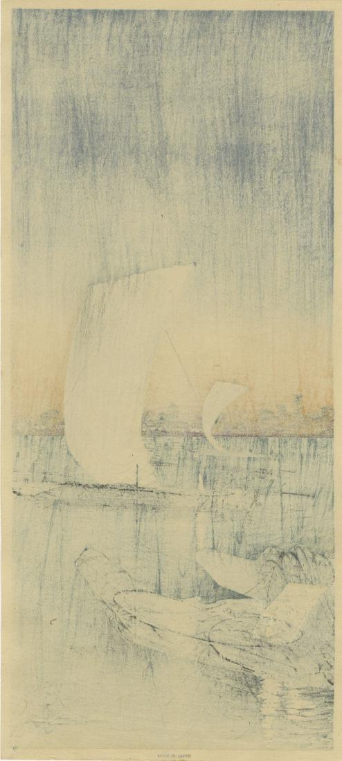 Shotei: Sekiyado 1932 Woodblock - 2