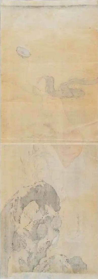 Hokusai Katsushika: Awabi Diver Woodblock Diptych - 6